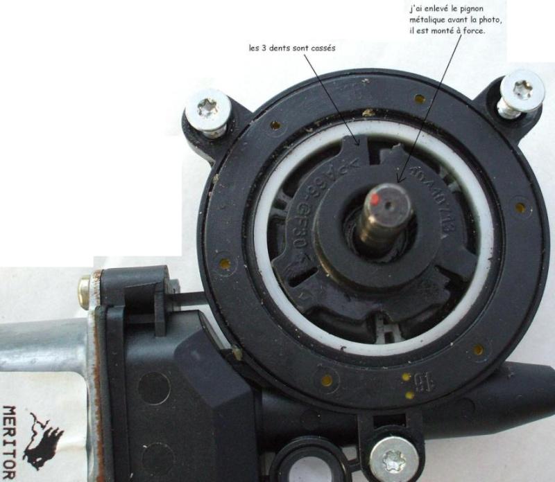 [ Renault Twingo an 2000 ] Réparation moteur lève vitre (tuto) Pignon13