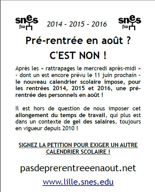 """Pétition intersyndicale : """"Pas de prérentrée en août"""" ! Affich11"""