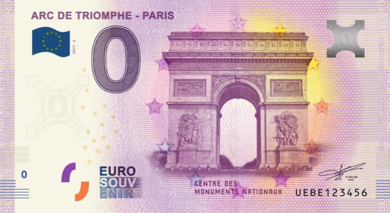 Billets 0 € Souvenirs  [Paris = 81] 7500810