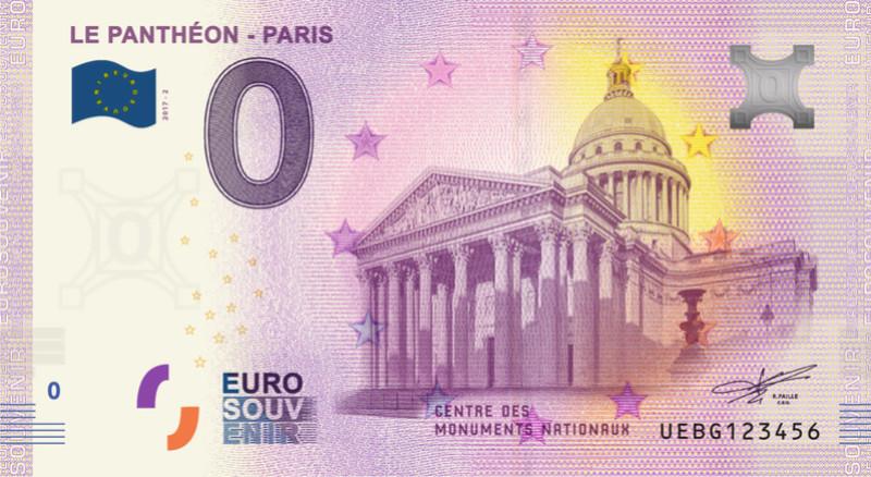 Billets 0 € Souvenirs  [Paris = 81] Panthy10
