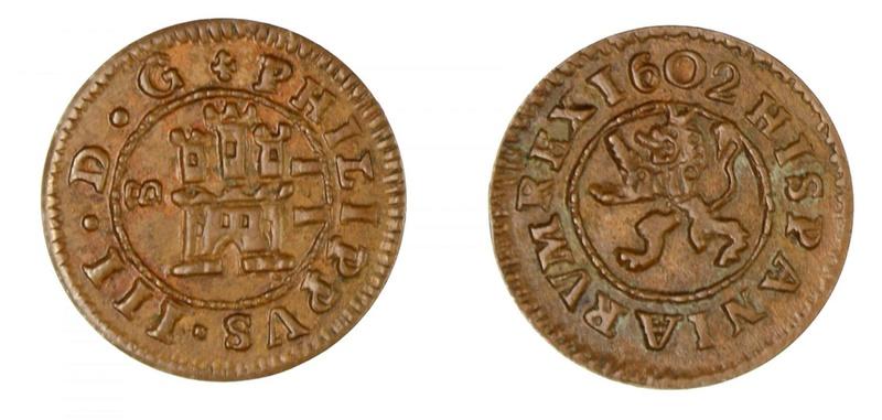 Numisor 14/9/17 :2 maravedís Felipe III. 28361911