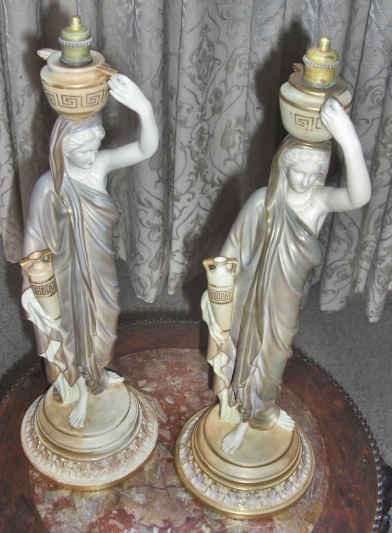 Royal Worcester Cricklites - Pair - three lamps 003_fo10