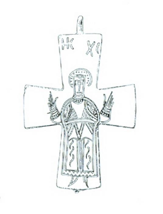 medalla bizantino Christo orante Encolp11