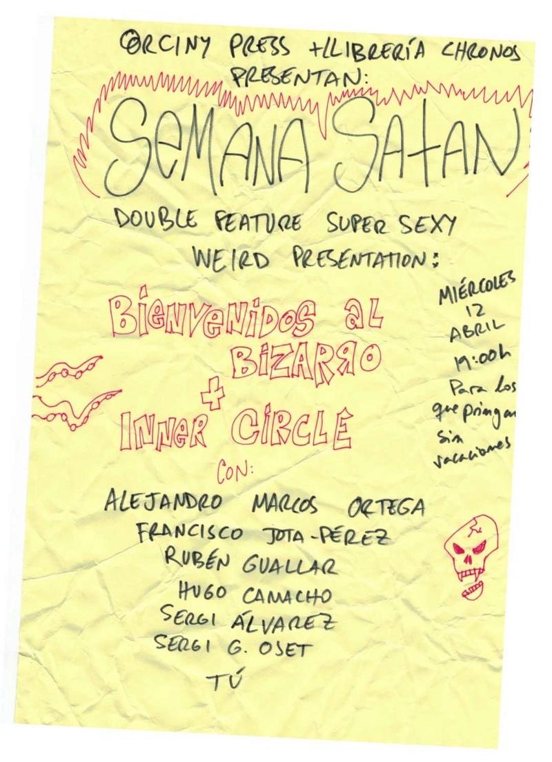EVENTO INNER CIRCLE: Semana Satan en Chronos: 12/04/2017 Semana10