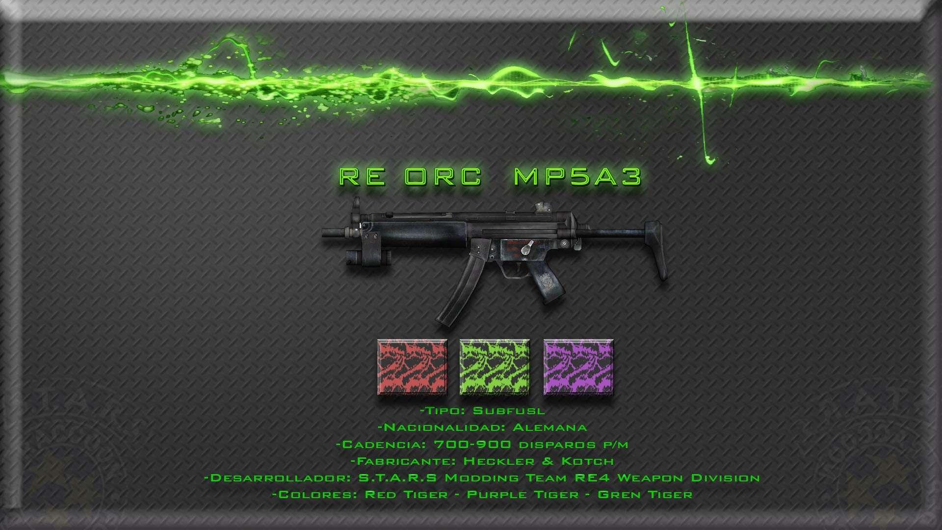 H&K MP5A3 con cammos de colores intercambiables Render10