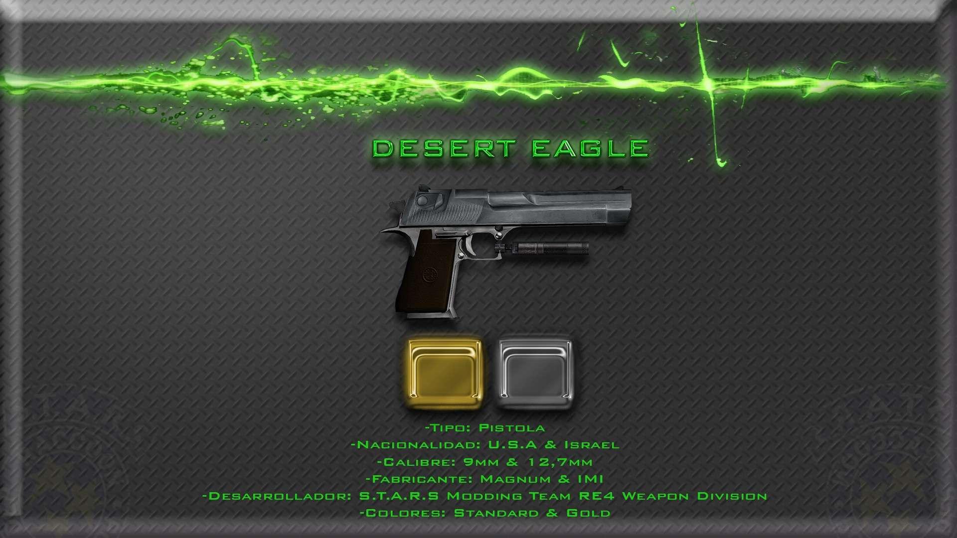 Desert Eagle + Gold + Silenciador + cargadores por caja de balas Render12