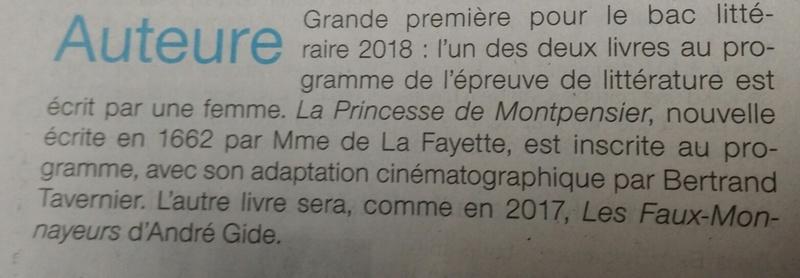 La Princesse de Montpensier au bac ! 20170310