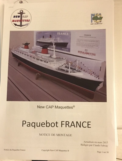 France 1/200 kit new cap maquette Img_3522