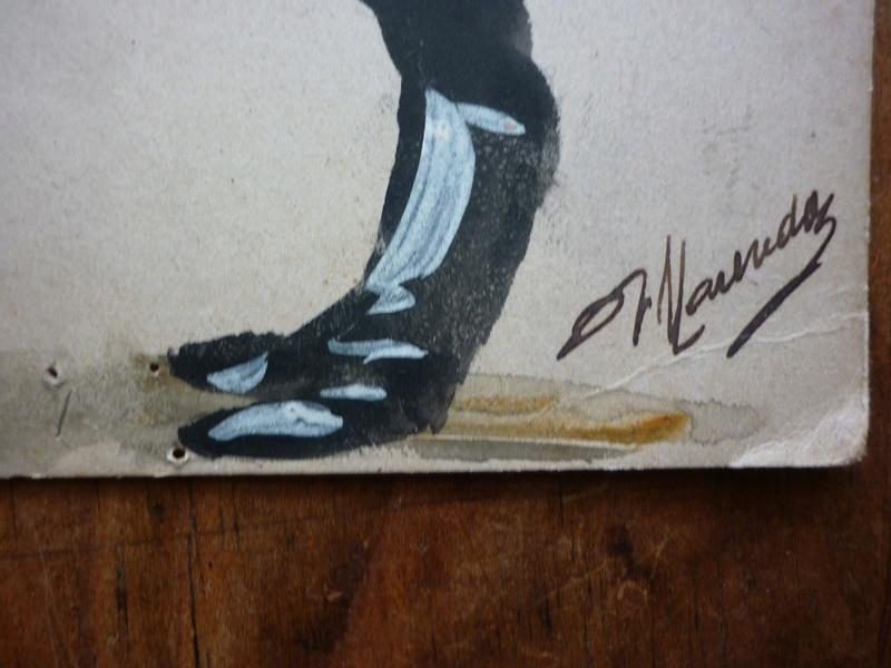 cpa peinte à la main et signée P1700310