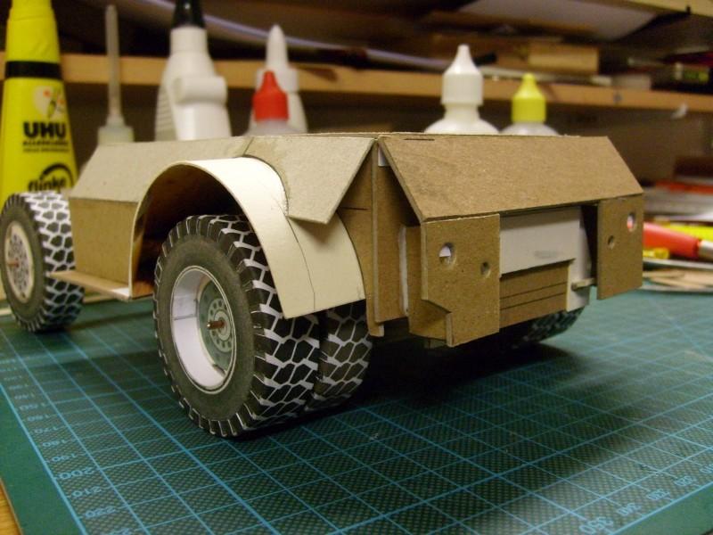"""Kranwagen """" PUMA"""" Eigenbau M1:20 gebaut von klebegold 57k11"""