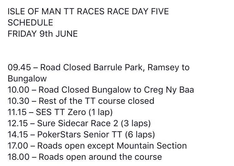 [Road Racing] TT 2017 - Page 21 Schedu10