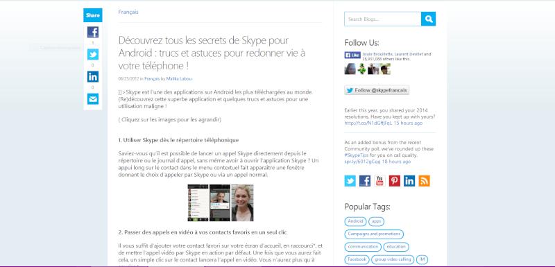 Découvrez tous les secrets de Skype pour Android : trucs et astuces pour redonner vie à votre téléphone ! Captur11