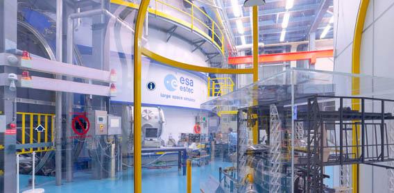 Visite virtuelle de l'ESTEC. Europe10