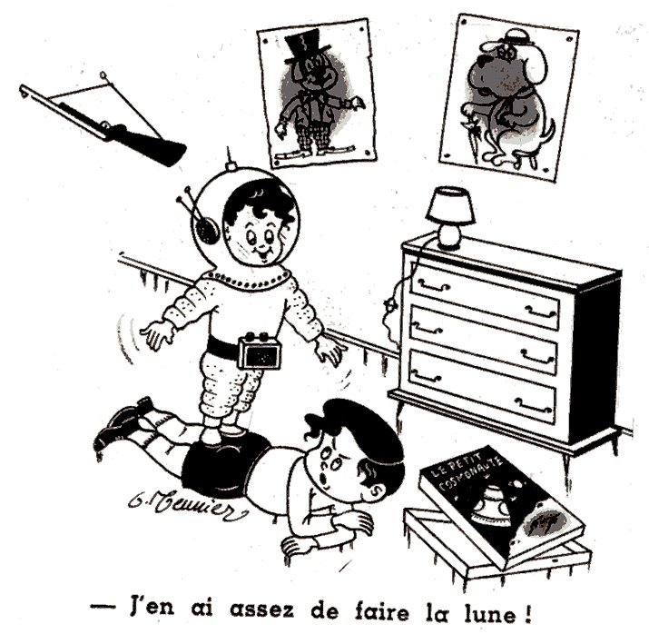 Dessins humoristiques sur l'espace Av198112
