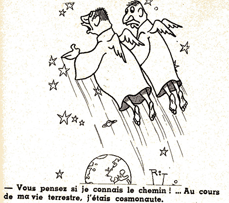 Dessins humoristiques sur l'espace Av198113