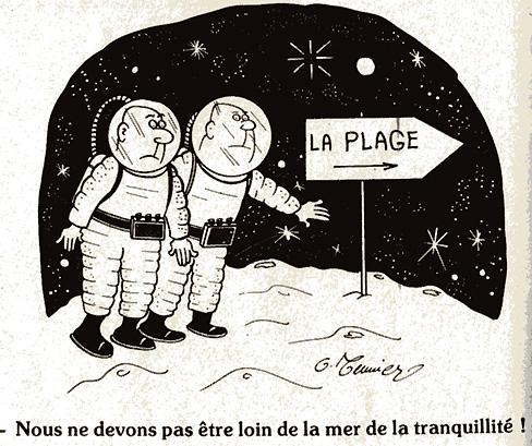 Dessins humoristiques sur l'espace Av198711