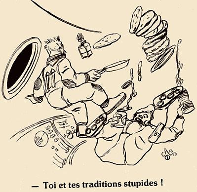 Dessins humoristiques sur l'espace Av198811