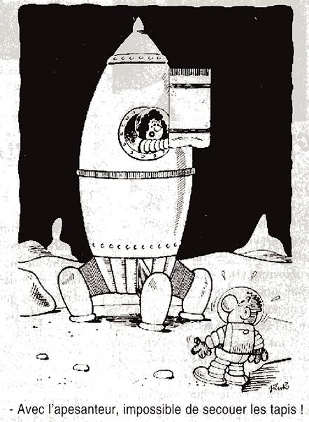 Dessins humoristiques sur l'espace Av199812