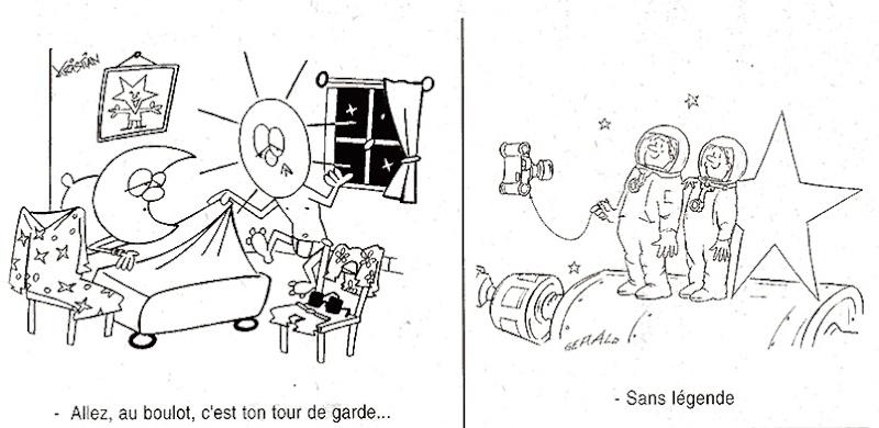 Dessins humoristiques sur l'espace Av199813