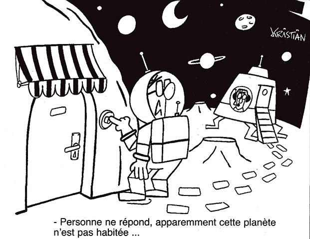 Dessins humoristiques sur l'espace Av200411