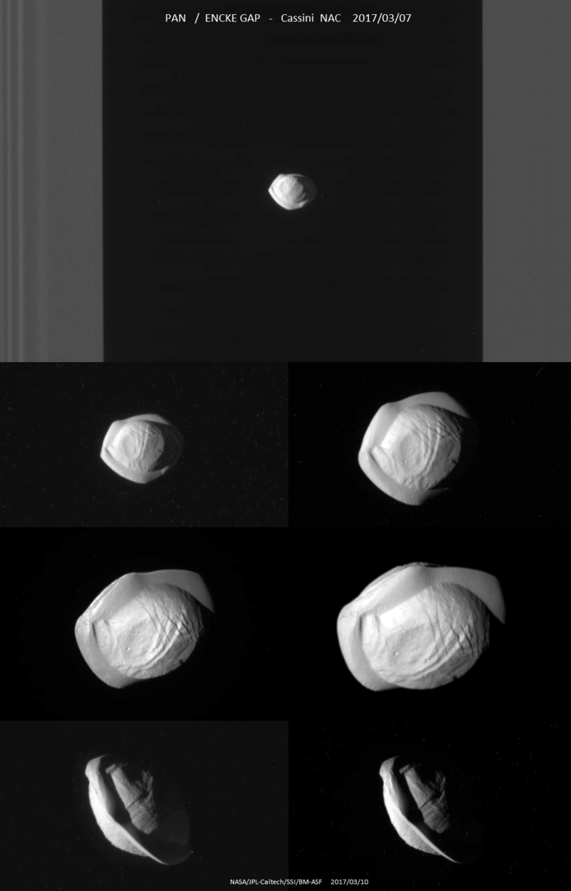 """Mission Cassini, phase """"Ring-Grazing Orbits"""" (30.11.2016 - 15.9.2017) Pan_n010"""