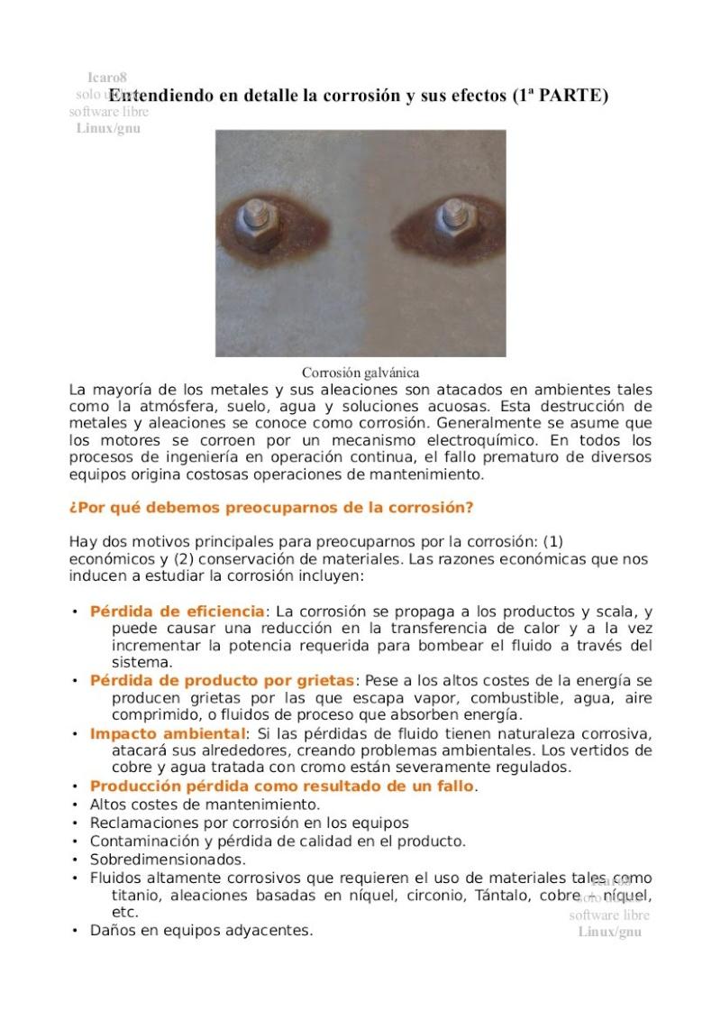 La corrosión y sus efectos Entend10