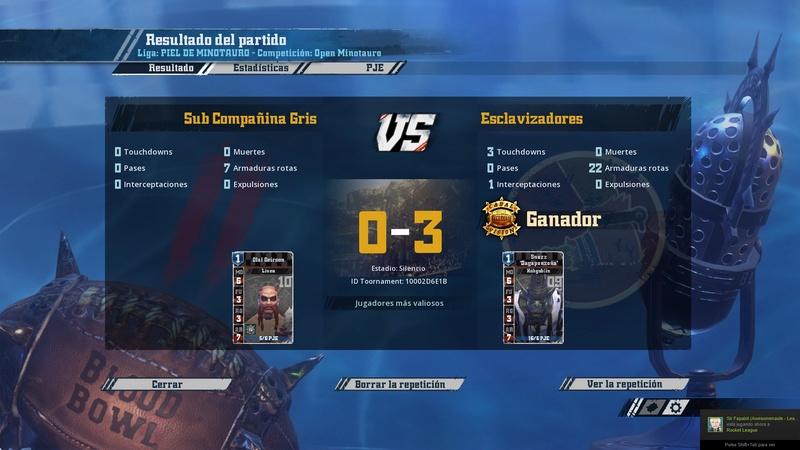 Open Minotauro Primavera 2017 - Retos e Informes de Partidos Bloodb11