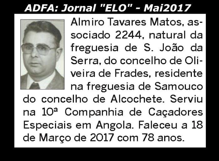 Notas de óbito publicadas no jornal «ELO», da ADFA, de Maio de 2017 Almiro10