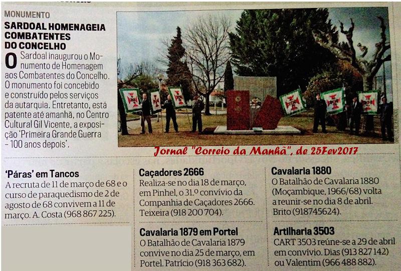 Encontros Convívios de ex-Militares Portugueses, in Correio da Manhã, de 25Fev2017 Cm_25f10