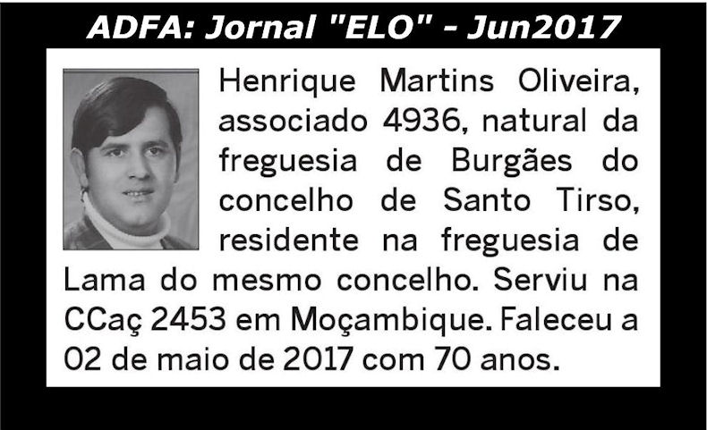 Notas de óbito publicadas no jornal «ELO», da ADFA, de Junho de 2017 Henriq10