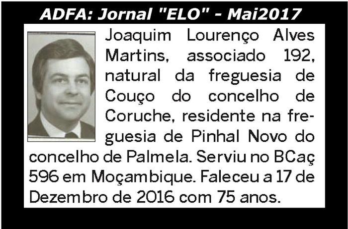 Notas de óbito publicadas no jornal «ELO», da ADFA, de Maio de 2017 Joaqui12