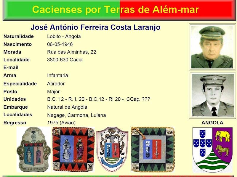 Faleceu o veterano José António Ferreira Costa Laranjo, Major, BCac12 e RI20 - 19Fev2017 Josy_a11