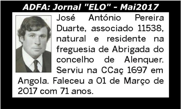 Notas de óbito publicadas no jornal «ELO», da ADFA, de Maio de 2017 Josy_a12
