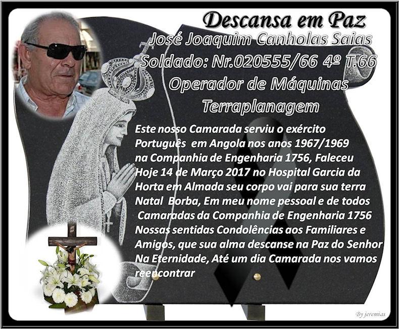 Faleceu o veterano José Joaquim Canholas Saias, da CEng1759 - 14Mar2017 Josy_j10