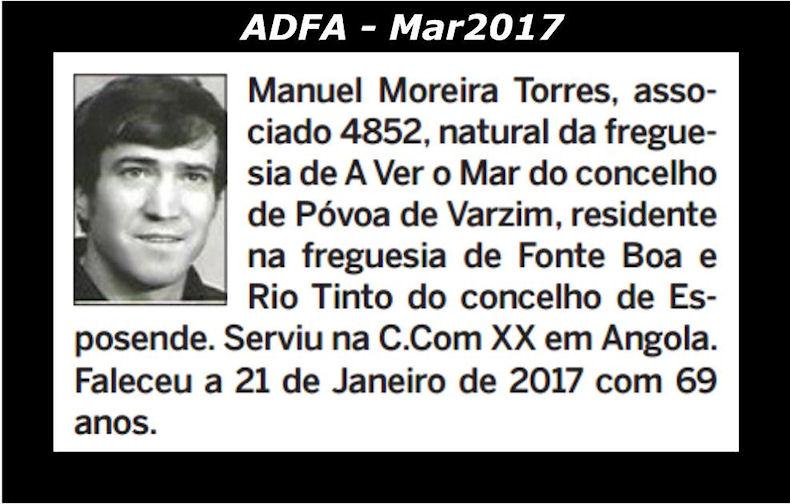 Notas de óbito publicadas no jornal «ELO», da ADFA, de Março de 2017 Manuel10