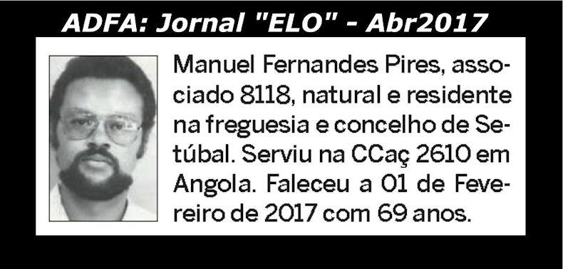 Notas de óbito publicadas no jornal «ELO», da ADFA, de Abril de 2017 Manuel11