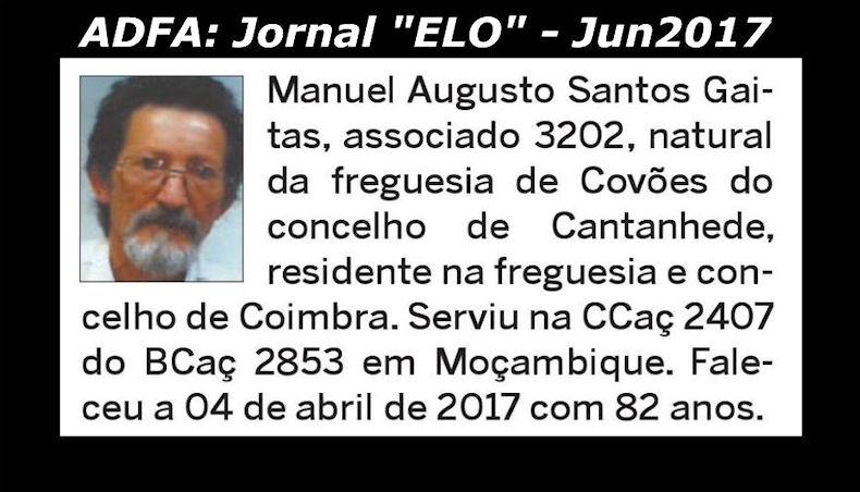 Notas de óbito publicadas no jornal «ELO», da ADFA, de Junho de 2017 Manuel17