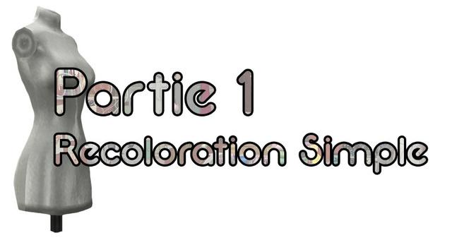 [Atelier de création de vêtement] Partie 1 : Recoloration simple Partie11