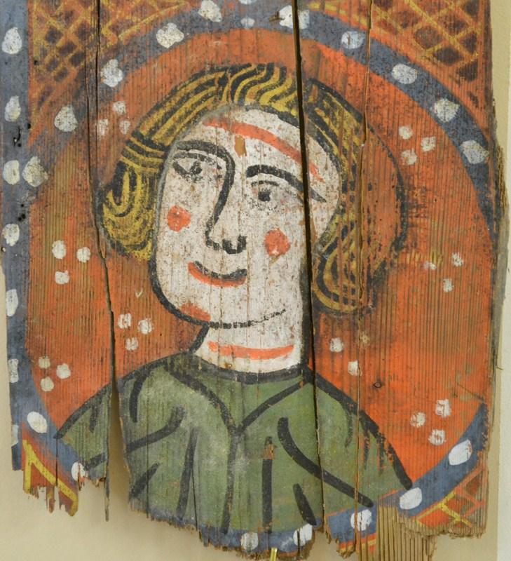 Descubren las pinturas de una techumbre del siglo XIII en Lagrasse 112
