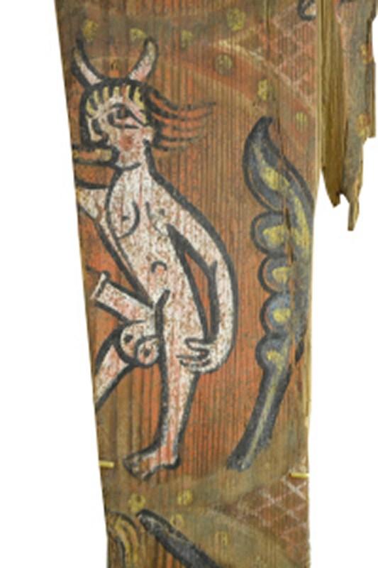 Descubren las pinturas de una techumbre del siglo XIII en Lagrasse 212