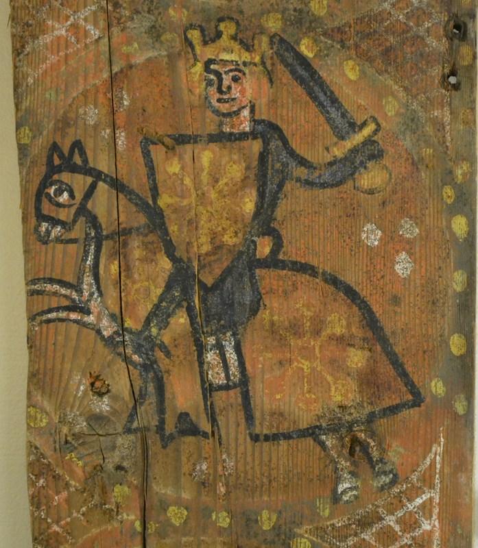 Descubren las pinturas de una techumbre del siglo XIII en Lagrasse 3-5_10