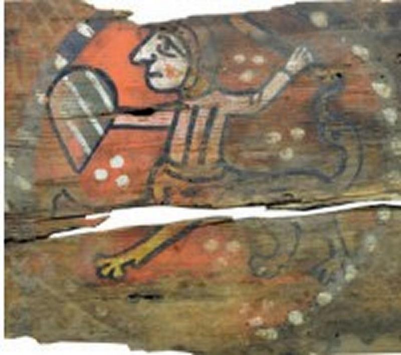 Descubren las pinturas de una techumbre del siglo XIII en Lagrasse 410