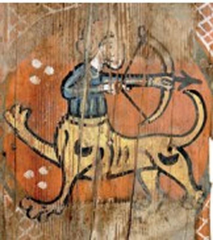 Descubren las pinturas de una techumbre del siglo XIII en Lagrasse Screen12