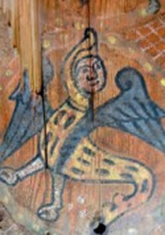 Descubren las pinturas de una techumbre del siglo XIII en Lagrasse Screen13