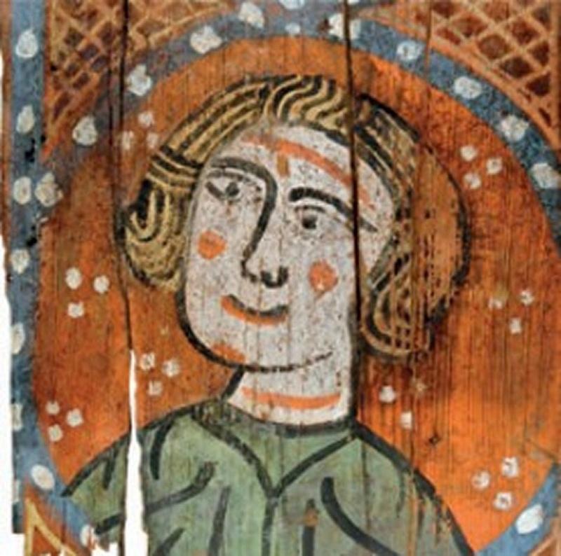 Descubren las pinturas de una techumbre del siglo XIII en Lagrasse Screen15