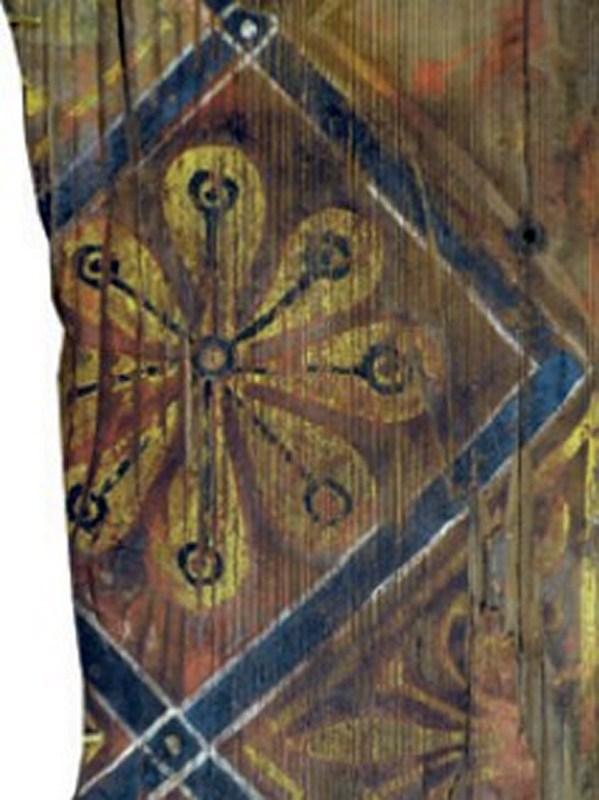 Descubren las pinturas de una techumbre del siglo XIII en Lagrasse Screen16