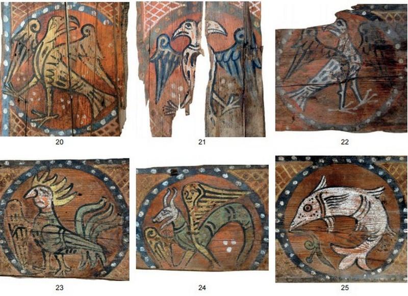 Descubren las pinturas de una techumbre del siglo XIII en Lagrasse Screen17