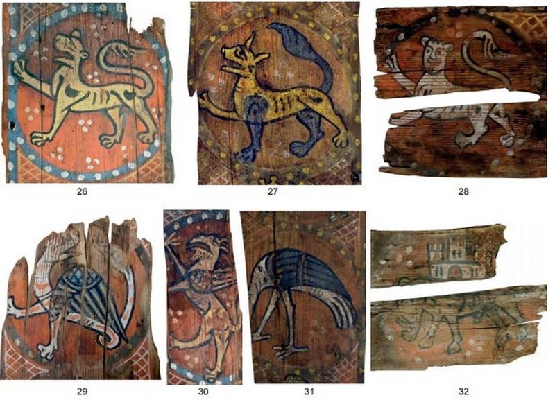 Descubren las pinturas de una techumbre del siglo XIII en Lagrasse Screen18