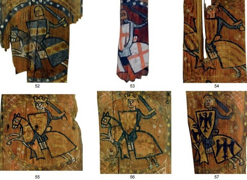 Descubren las pinturas de una techumbre del siglo XIII en Lagrasse Screen23