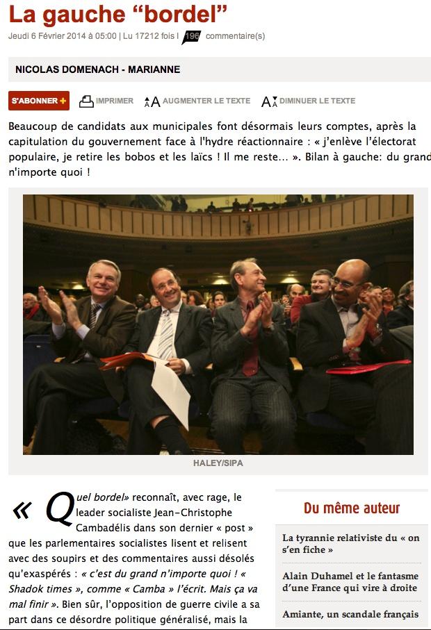 La gauche bordel. Clicha93